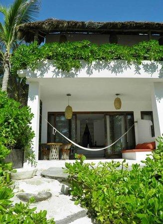 Cabanas Tulum : La camera dalla spiaggia