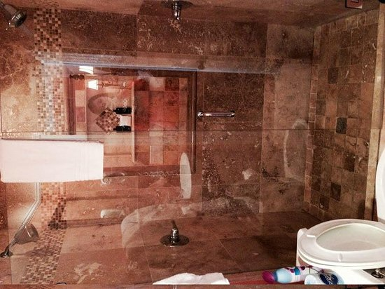 Bayfront Marin House Historic Inn: Double Walk-in Shower (for two!)