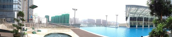 L'hotel Nina et Convention Centre : View from Outside Pool at Ninth Floor