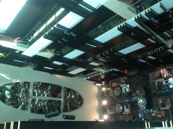 The Canvas Dubai Hotel: Lobby from the the room corridor