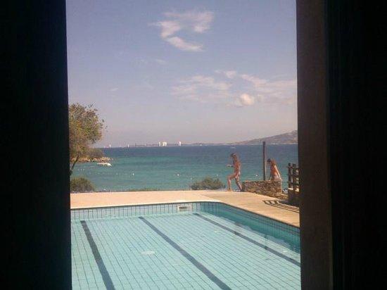 Residence Hotel Porto Mannu : veduta dall'interno del bar