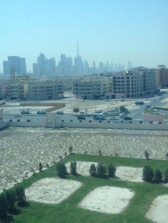 The Canvas Dubai Hotel: View from the room. Burj khalifa