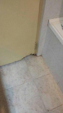 Hotel Tree of Life : Beschädigungen an der Badezimmertür