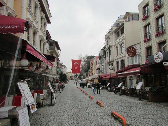 Hotel Sari Konak: Next street to Topkapi Palace