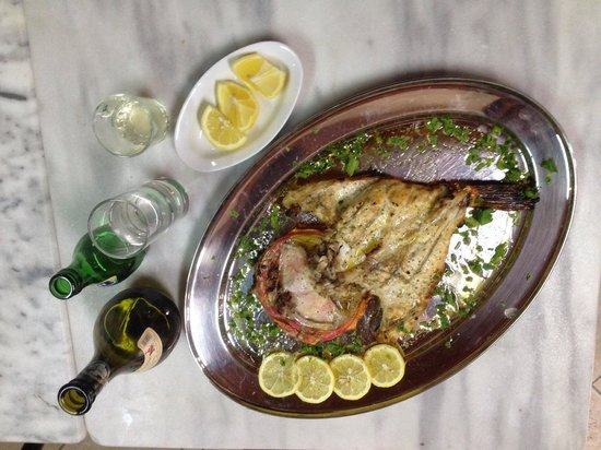 Rementzo Taverna: Scorpina, scorpion fish, is a tasty, red colored beauty