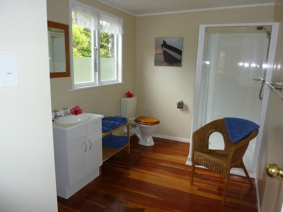 Aotea Lodge: Unit 1 - spacious bathroom
