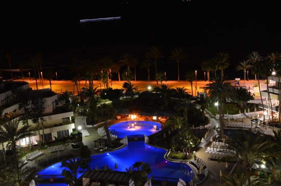 H10 Conquistador: View from our balcony at night