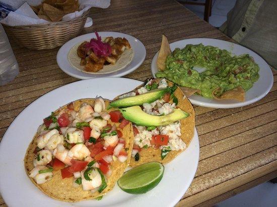 Camilo's: Shrimp Tostada