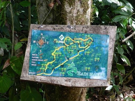 Costa Rica Jade Tours: Rainmaker Trail Map