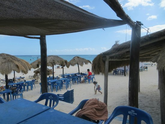 La Playa Xpuha: View from our table