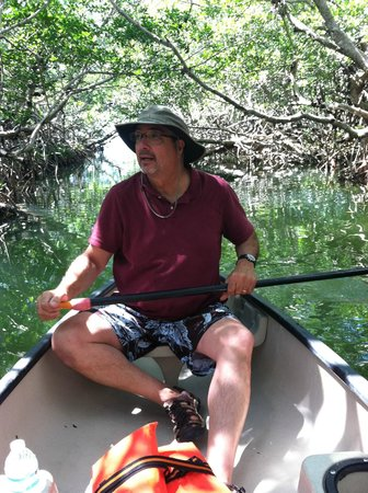 Key Lime Sailing Club and Cottages: canoeing through mangroves