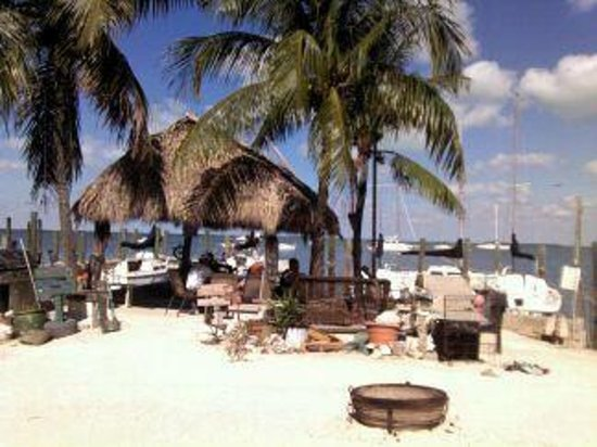 Key Lime Sailing Club and Cottages: Tiki Hut - view from Captain's Cottage