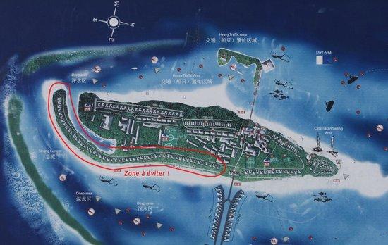 Paradise Island Resort & Spa : Carte avec bungalows à éviter.