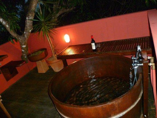 Tendacayou Ecolodge & Spa : Le bain japonais dans les arbres...