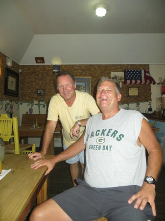 Cutters of Barbados: Owner and Roy at Cutter's