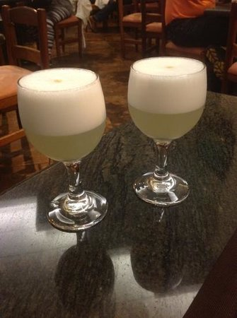 Thunderbird Hotel J. Pardo: you get a free drink on arrival...the usual pisco sours here, but dont worry...they're too small