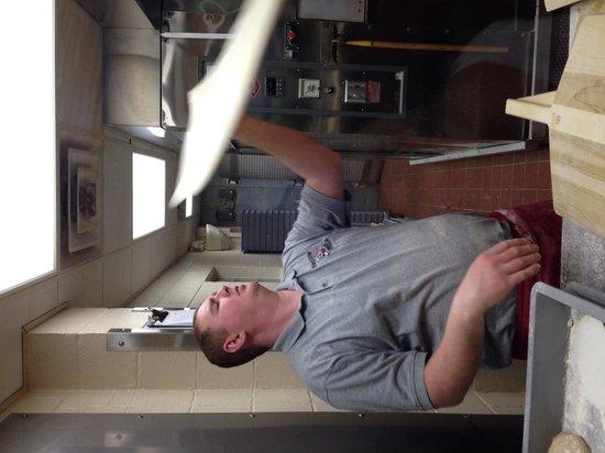 Harris Pizza: Good ol fashion dough making
