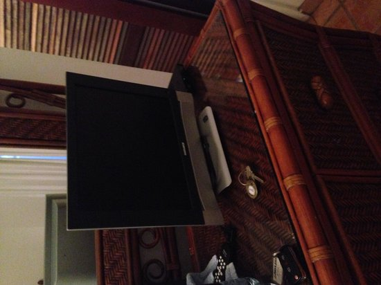 Acacia Boutique Hotel: The tiniest tv I have ever seen