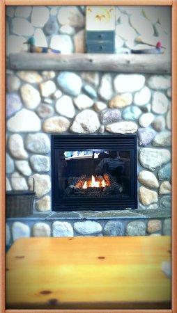 Causeway on Gull: fireplace
