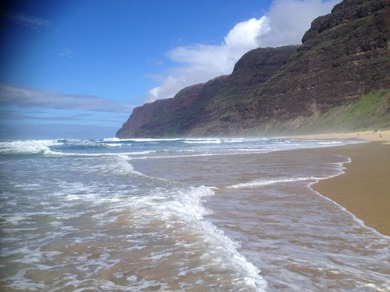 Na Pali Riders: Polihale beach. Start of the Napali Coast.