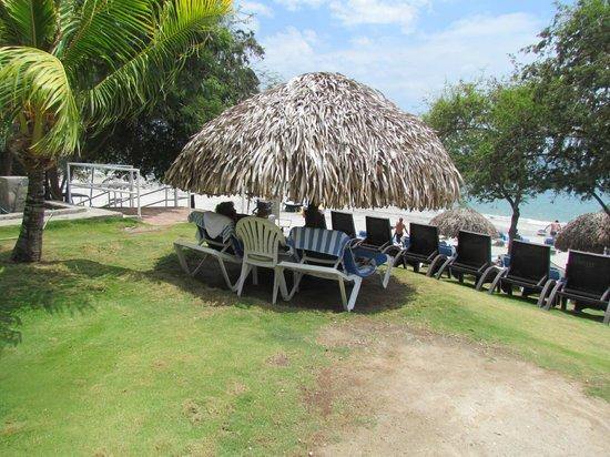 Sheraton Bijao Beach Resort - An All Inclusive Resort: cabanas with lounge chairs on beach