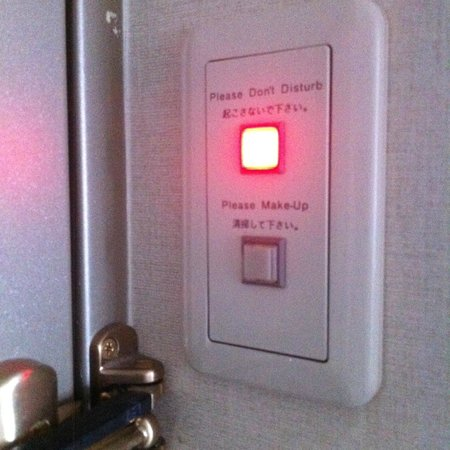 Hotel JAL City Tamachi Tokyo : A button instead of a hook for the door!