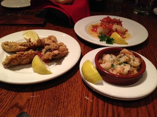 El Meson: fried oysters, shrimp & scallops