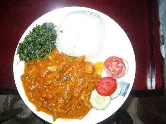 Nyumbani Hotel & Resort Moshi: Dinner :-)