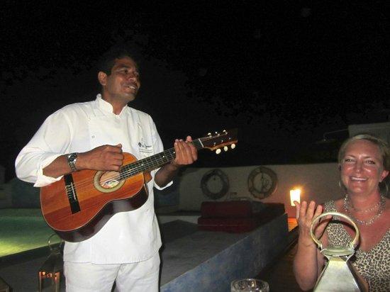 La Passion Hotel Lounge : Jose serenading us during birthday dinner!