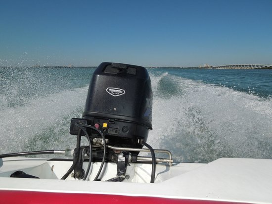 Speed Boat Adventures: Our wake