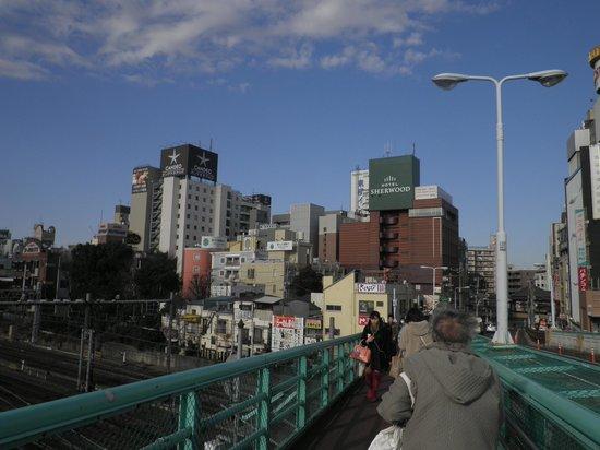 Candeo Hotels Ueno-Park : Salida sur del metro se ve el hotel
