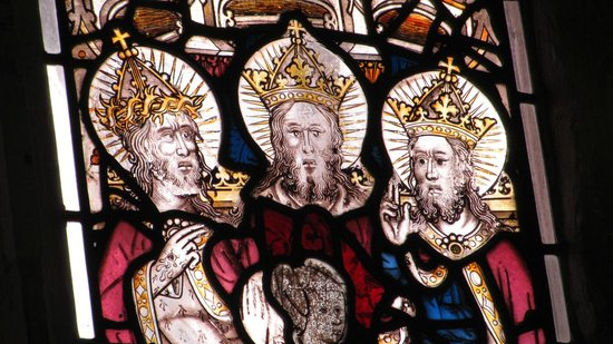 Holy Trinity Church : Particolare della vetrata dell'abside