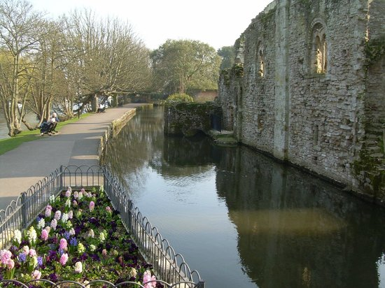 Christchurch Priory Church: Part of the river walks