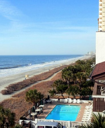 Riptide Beach Club: view from balcony building B