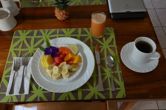 Villa Decary: first course at breakfast