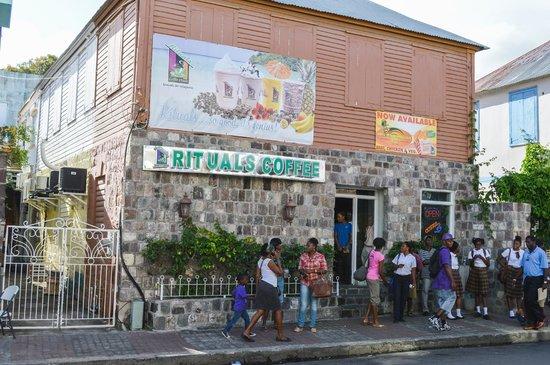 Ritual Coffee House: down town St-Kitts