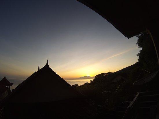 Titi Sedana Homestay: vue de la terrasse de la chambre