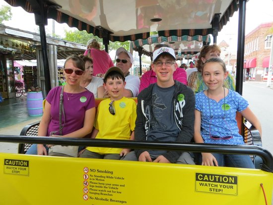 Conch Tour Train: family on the Conch Train