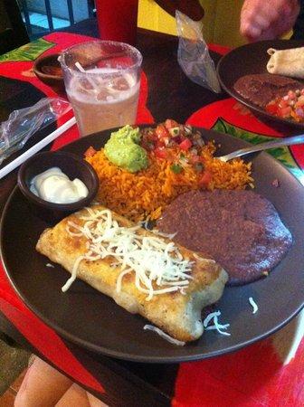 Jalapenos Central: Chimichanga meal, amazing food!
