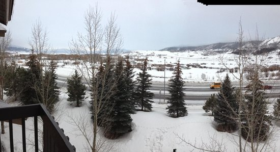 The Village at Steamboat Springs: The view from the balcony