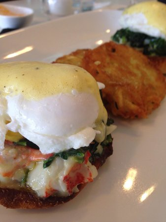 Lobster benedict picture of fish restaurant bar for Fish restaurant stamford ct