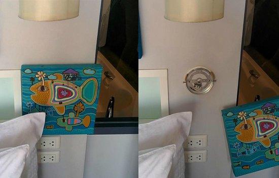 The Houben Hotel : une lampe qui ne fonctionne plus? pas de problème, on la remplace par un cadre (pas très design.