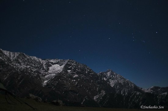 Triund Hill: Full Moon night on the Himalayas.. Triund