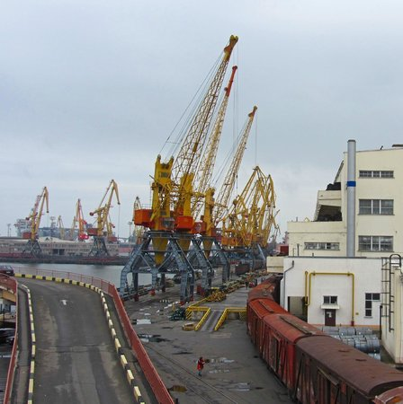 The Odessa Port: Cranes and Trains - Port of Odessa