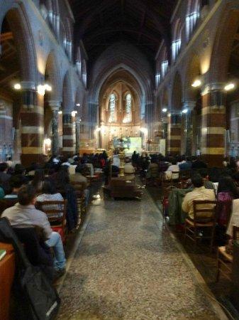 All Saints' Church: The nave.
