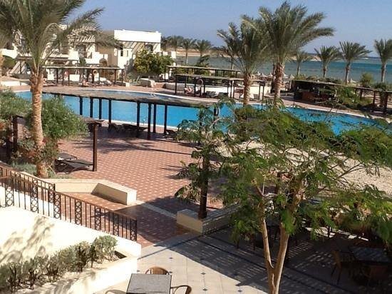 Jaz Belvedere: On terrace looking down to pool and beach