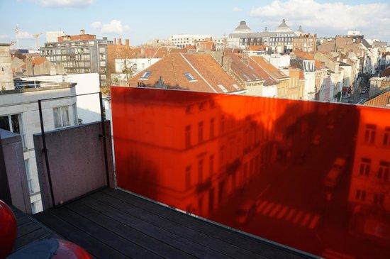 Pantone Hotel : le balcon au 6 eme étage