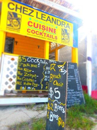 Chez Leandra : Chalkboard menus