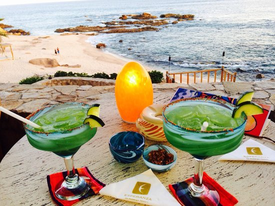 Cocina del Mar: Best margaritas in Cabo! And look at that view!