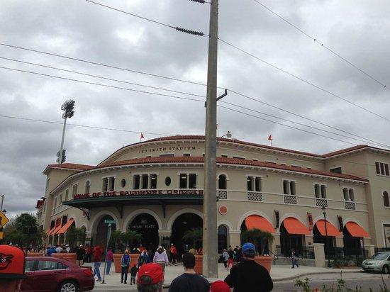 Ed Smith Stadium: outside stadium